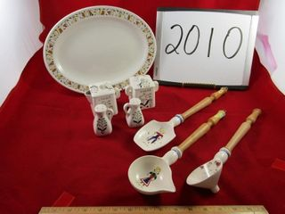 lot  2 pc  Royal Winton  Steellite platter  Cream