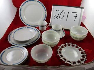lot  Partial set of Japan ware dinner service