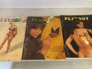 3 PlAYBOY MAGAZINES FROM 1968