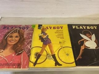 3   PlAYBOY MAGAZINES  1968 AND 1971