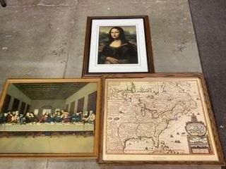 3 PICTURES  lAST SUPPER  MONA lISA  AND NEW