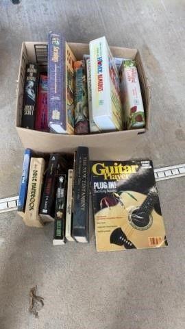 BOX OF VARIETY OF BOOKS