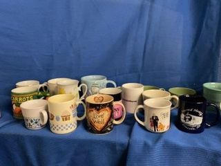 18 COFFEE CUPS All DIFFERENT