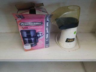HOT AIR POPPER  PROCTOR SIlEX 10 CUP COFFEEMAKER