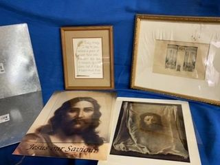 PICTURES  JESUS  2 TIN HANGINGS