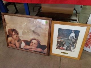 30 X24  ANGElS PICTURE AND 19 X22  NORMAN