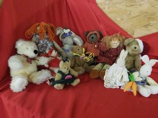 A VARIETY OF STUFFED ANIMAlS