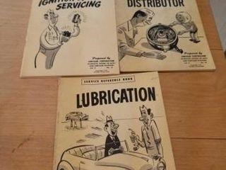 3 VINTAGE CHRYSlER SERVICE BOOKS