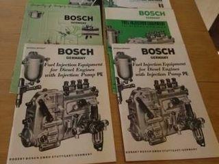 VINTAGE GERMAN BOSCH ENGINE AND PUMP MANUAlS