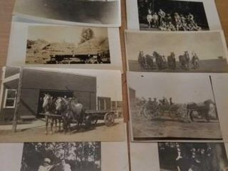 RPPC REAl PICTURE POST CARDS  lOT OF 10