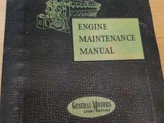 VINTAGE 1957 GE ENGINE MAINTENANCE MANUAl