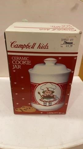 CAMPBEll KIDS CERAMIC COOKIE JAR