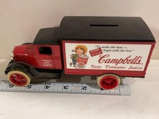 CAMPBEll SOUP TRUCK BANK FROM ERTl