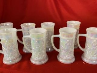 8 FENTON OPAQUE COlORFUl STEINS