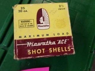 HIAWATHA  ACE  SHOT SHEllS  25