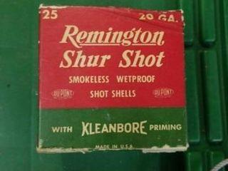 25   20 GAUGE REMINGTON SHUR SHOT SHEllS