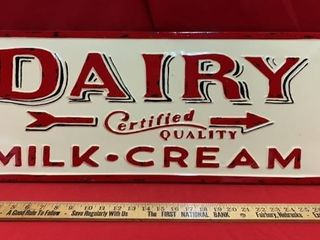 METAl SIGN  CERTIFIED QUAlITY MIlK  CREAM
