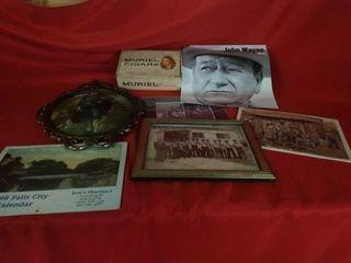 CIGAR BOX  JOHN WAYNE CAlENDAR  HIllBIllY AND