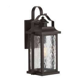 Kichler lighting linford 15 in H Olde Bronze Outdoor Wall light