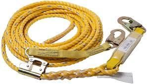 Guardian Fall Protection 01320 VlA 50 Yellow Poly Steel Vertical lifeline Assembly  50 Foot