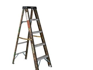 WERNER 5 ft  Camouflage Fiberglass Step ladder 9 ft  Reach Type II 225 lbs  Capacity