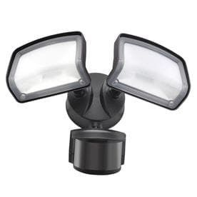 Good Earth lighting 240 Degree 2 Head Dual Detection Zone Bronze lED Motion Activated Flood light with Timer