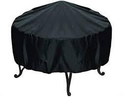 round fire pit cover black