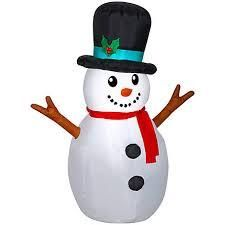 airblown inflatable woodsy snowman