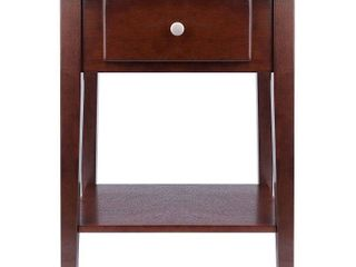 Shaker Walnut Wood Night Stand End Table  Retail 104 99