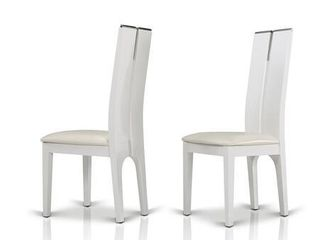 Modrest Maxi White Gloss Chair  Set of 2  Retail 455 49