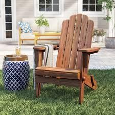 lakeside Faux Wood Adirondack Outdoor Portable Chair Espresso   Merry Products