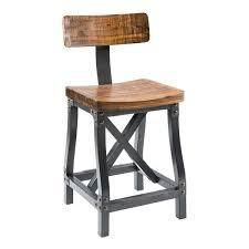 Carbon loft Magie Amber and Graphite Barstool with Back   Retail 174 49