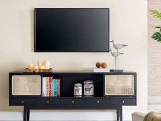 Simms Media Console Black   Holly   Martin