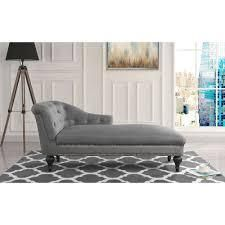 elegant Victorian inspired chaise microfiber gray