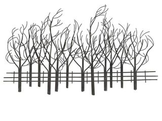 Metal Field of Trees Wall Decor  Retail 104 99