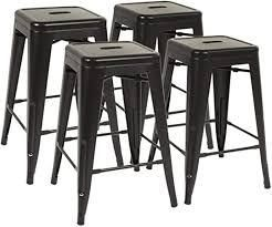 Backless Modern Industrial 30 In  Metal Bar Stools Set of 4  Retail 216 99