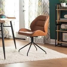 calico design devonport swivel armless office chair black and copper