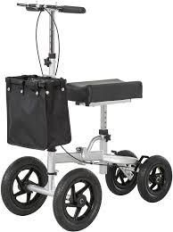 HOMCOM Knee Scooter with Basket Storage  Walker Mobility During Medical Rehabilitation   Injury  Folding for Transport  Retail 201 99