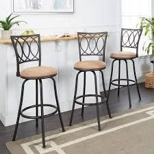 Copper Grove laren Swiveling Adjustable height Bar Stools set of 2 Retail 137 99 tan and black