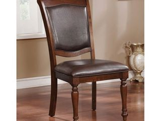 Furniture of America Roke Traditional Cherry Side Chairs  Set of 2  Retail 219 99