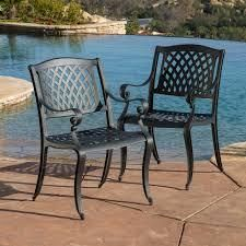 cayman Outdoor chairs only set of 2 Matte black
