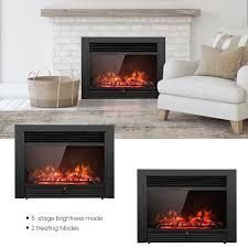 750 1500W Electric Fireplace Heater only Adjustable Temperature  luminance  Retail 205 99