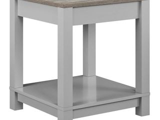 Ameriwood Home Carver Grey End Table  Retail 75 48