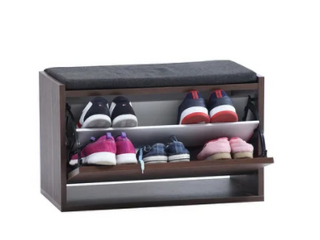 Tona Shoe Storage Cabinet with Cushion Mid Century Modern Contemporary   26 x13 x17 Retail 84 49