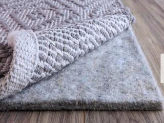 FiberSoft Extra Thick 100 percent Felt Rug Pad for All Floors   Grey Retail 152 99
