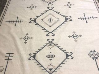 Ruggable Rug liner Pad Combo Off White Geometric Area Rug