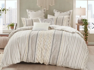 The Curated Nomad Clementina Cotton Printed Chenille Comforter Set King Retail 117 32