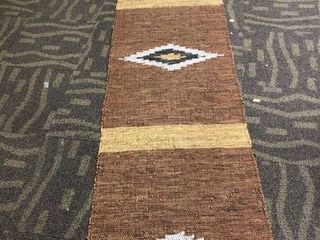 Southwest Style leather Cotton Blend Runner
