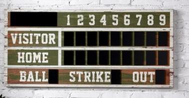 StyleCraft Wooden Scoreboard Wall Decor