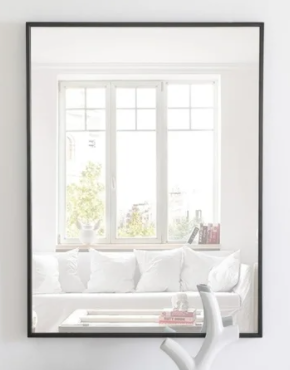 Carson Carrington Salsnas Metal Frame Rectangular Mirror  Retail 119 49